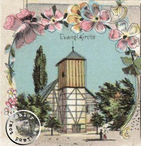 Die ehemalige evgl. Kirche zu Bentschen / Postkartenausschnitt
