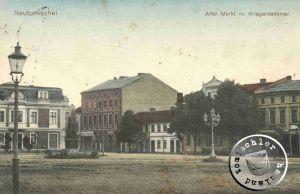 Das Gebäude auf dem Hausgrundstück No. 15 links neben dem ehemaligen Hotel Hopfenkranz / Ansichtskarte aus der Sammlung Wojtek Szkudlarski