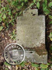 Grabstein der Auguste Lange / Aufn. Piotr Szwiec 2010