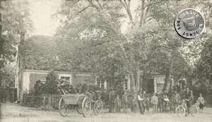 Der ehemalige Gasthof Schade in Chmielinke / Postkartenausschnitt Sammlung A. Kraft