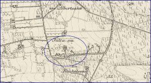 Die ehemalige Colonie Juliana, heute Julianak - Ausschnitt Messtischblatt 3763 / http://mapy.amzp.pl/tk25.cgi?23,48,60,80