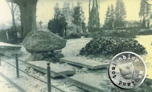 Im Vordergrund das ehem. Grab des Heimatforschers Goldmann - Bild Privatbesitz
