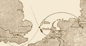 Karte des Unglücksortes / Quelle: Wikipedia - Von unbekannt - Die Gartenlaube 1895, Sammelband Nr. 8, S. 116, PD-alt-100, https://de.wikipedia.org/w/index.php?curid=2753770