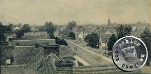 Duschnik, die Dorfstrasse - Postkartenausschnitt