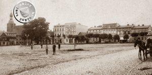 Rakwitz, nördl. Seite des Marktplatzes - Postkartenausschnitt