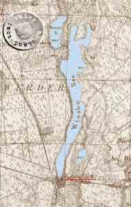Ruchotscher Mühle / Ausschnitt Messtischblatt - Quelle http://mapy.amzp.pl/tk25.cgi?23,48,60,80