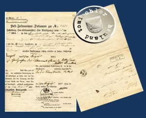 Die Original Urkunde aus dem Jahr 1853 / Privatbesitz