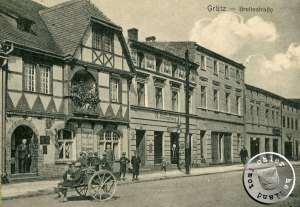 Grätz, die Breite Straße / Ausschnitt Ansichtskarte