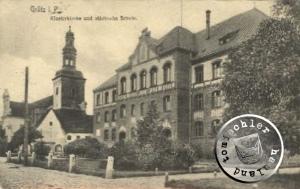 Die Klosterkirche und Stadtschule / Bild Sammlung A. Kraft