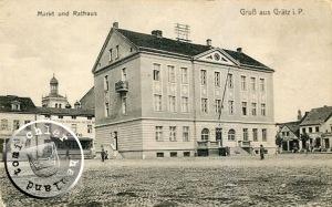 Das Rathaus mitten auf dem Markt / Bild Sammlung A. Kraft