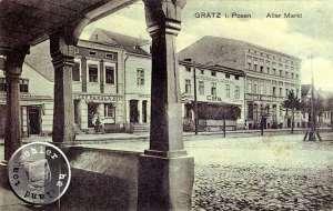 Grätz - Alter Markt, Blick aus einem alten Laubengang / Bild Sammlung A. Kraft