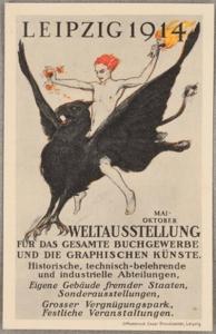 """""""Die Welt in Leipzig, Internationale Ausstellung für Buchgewerbe und Graphik Bugra 1914"""" - Quelle: *1"""