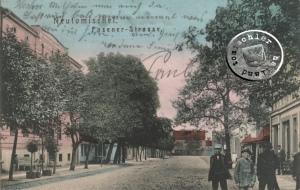 Die Posener Straße - die No. 5 hat sich links zum Ende hin befunden / Karte Sammlung Wojtek Szkudlarski