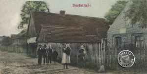 Wonsowo/Wasowo die ehem. Dorfstraße - Postkartenausschnitt
