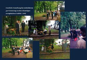 Die feierliche Einweihung des Gedenksteines zur Erinnerung an den ehemaligen evangelischen Friedhof / Aufn. 2003 A. Kraft