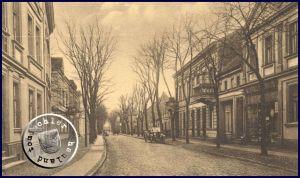 Die ehem. Bahnhofstraße - Postkarte Sammlung Wojtek Szkudlarski