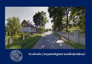 Rudnik Ortsdurchfahrt; rechts Mauer zum Areal des alten Herrenhauses von Andrzeja und Władysława Niegolewskich, welches heute eine Schule ist / Bild: EF