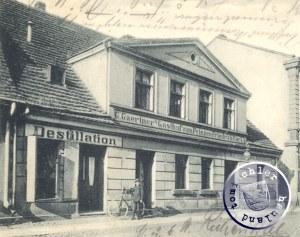 Die einstige Gaststätte Gärtner in der ehem. Goldstraße - AK-Ausschnitt Sammlung Wojtek Szkudlarski