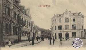 Schweriner Straße in Birnbaum / Bild Sammlung Kraft