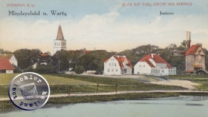 Die ehem. evgl. Kirche Birnbaum (geschätzt um 1910) / Bild Sammlung Kraft