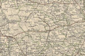 Kartenausschnitt mit Neutomischel in der Provinz Posen (1)