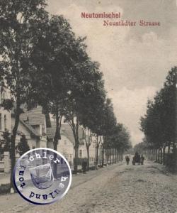 Die ehemalige Neustädter Str. / AK-Ausschnitt Sammlung Wojtek Szkudlarski