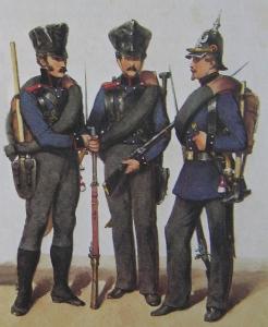 """Bild von Edmund Friedrich Theodor Rabe (*1815 †1902) - """"Die brandenburg-preußische Armee in historischer Darstellung"""", Bild-PD-alt, https://de.wikipedia.org/w/index.php?curid=7813559"""