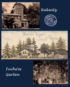 Fuchs'es Garten in Rakwitz / Ausschnitte AK - Sammlung Wojtek Szkudlarski