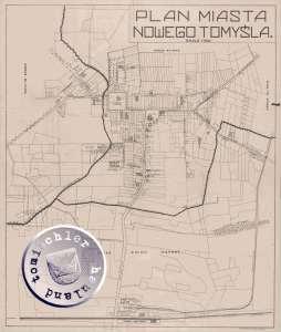 Plan der Stadt Nowy Tomyśl / Neutomischel (1)
